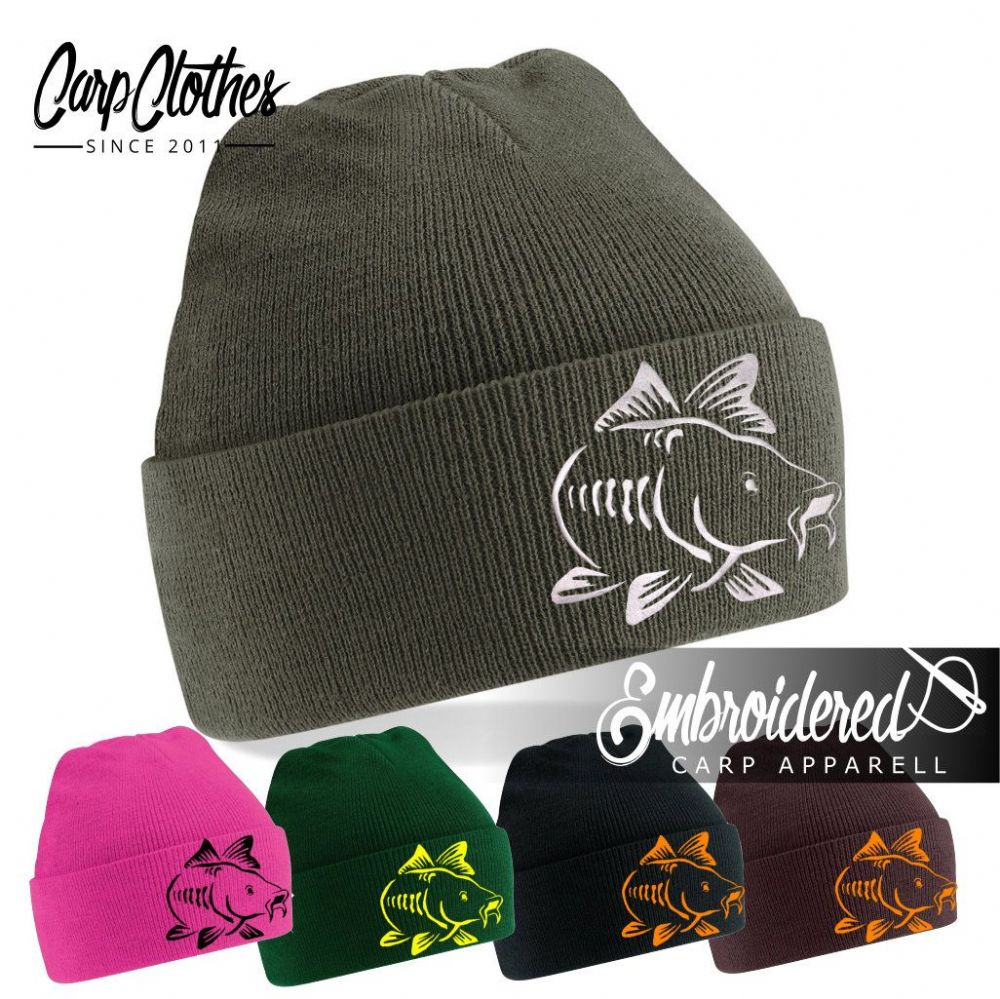 003 EMBROIDERED CARP BEANIE